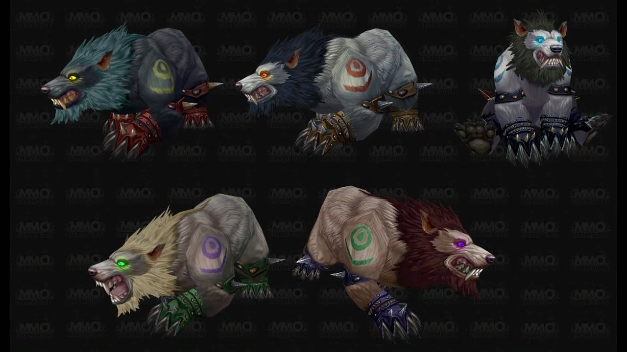 Wow Cataclysm Troll And Worgen Druid Forms Hd Youtube