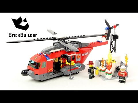 Lego City 60010 Fire Helicopter - Lego Speed Build