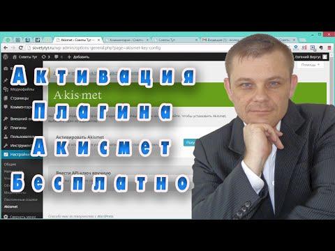 Активация Плагина Акисмет Бесплатно (Евгений Вергус)