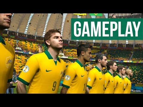 2014 FIFA World Cup Brazil Gameplay - ENGLAND vs BRAZIL
