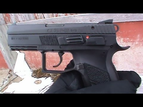 CZ 75 P-07 DUTY 9MM 3.8 inch barrel doing heart shots with Federal ammunition