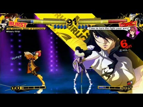 Persona 4 Arena gameplay