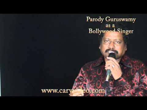 Parody Guruswamy Singing Tere Mere Sapne Ab Ek Rang Hain