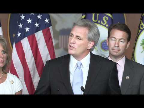 House Majority Whip Kevin McCarthy at a House Republican Leadership Press Conference