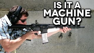 The Truth About BUMP STOCKS - Is It a Machine Gun? (Slo-Mo Analysis)