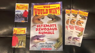 NEW* WHO WOULD WN? ULTIMATE DINOSAUR RUMBLE BOOK REVIEW AND UNBOXING!!!👍😎🎉