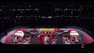 Insane Chicago Blackhawks Projection Show Opener Ice 2016-2017