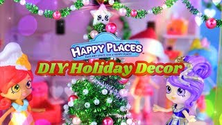 DIY - How to Make: Holiday Decorations for Shopkins Happy Places Play Sets