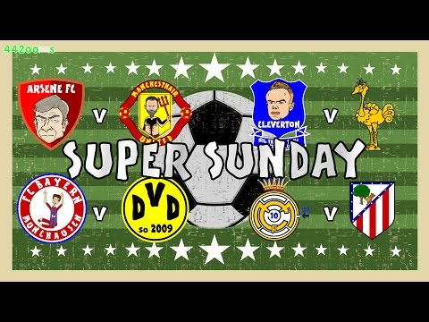 ⚽️SUPER SUNDAY⚽️ Rodgers sacked! Arsenal 3-0 Man Utd! Atletico 1-1 Real Madrid! Bayern vs Dortmund!