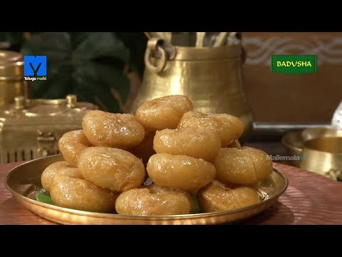 Badusha (బాదుషా) - How to Make Badusha - Sweet Recipes - Teluguruchi Cooking Videos