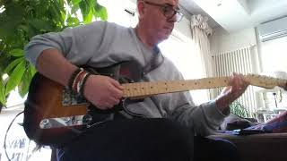 Angelo Volpe's guitar blues Fender telecaster 60' anniversary