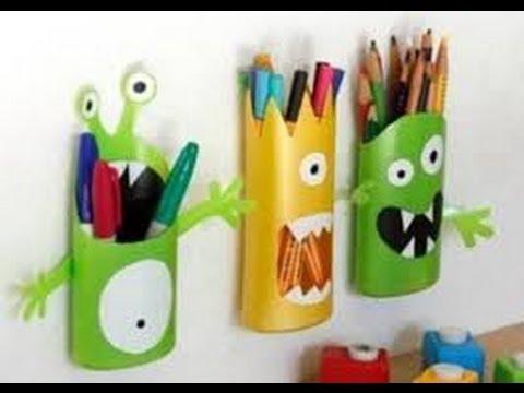 Manualidades para niños con material reciclable - YouTube