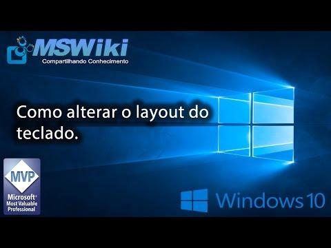 Windows 10 - Como alterar o layout do teclado