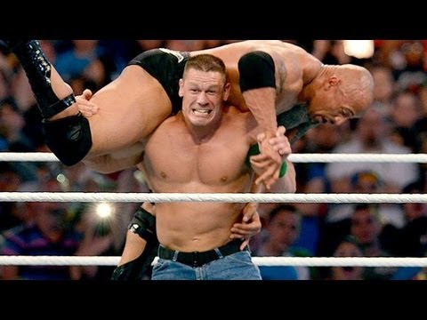 Wrestle Mania 29 - Wwe Champion The Rock Vs John Cena Wrestlemania 29 Hd 4 7 13 video
