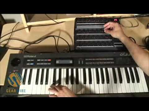 Roland Alpha Juno 1 Connects With Behringer BCR2000