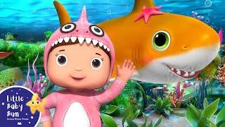 Baby Shark Original   Animal Songs for Kids   Little Baby Bum