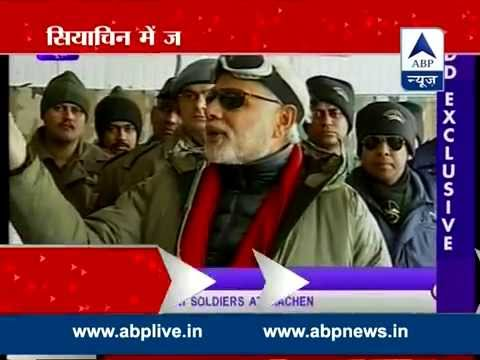 Modi's Kashmiri Diwali l Visits soldiers in Siachen and flood victims in Srinagar