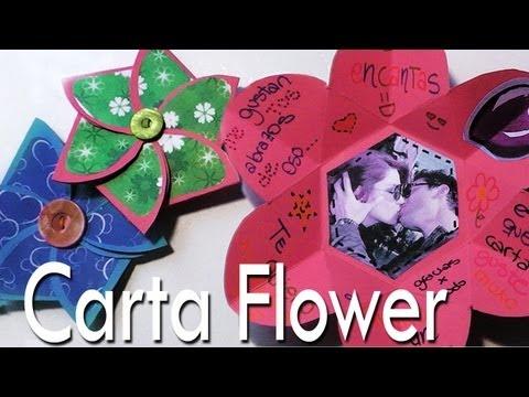 Carta Flower...una Carta dentro de una Flor // Scrapbook