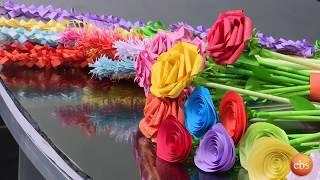 በወረቀት አበቦችን የምትሰራዉ ወጣቷ  ከእሁድን በኢቢኤስ ጋር/Sunday With EBS  talented young lady who makes Paper flowers