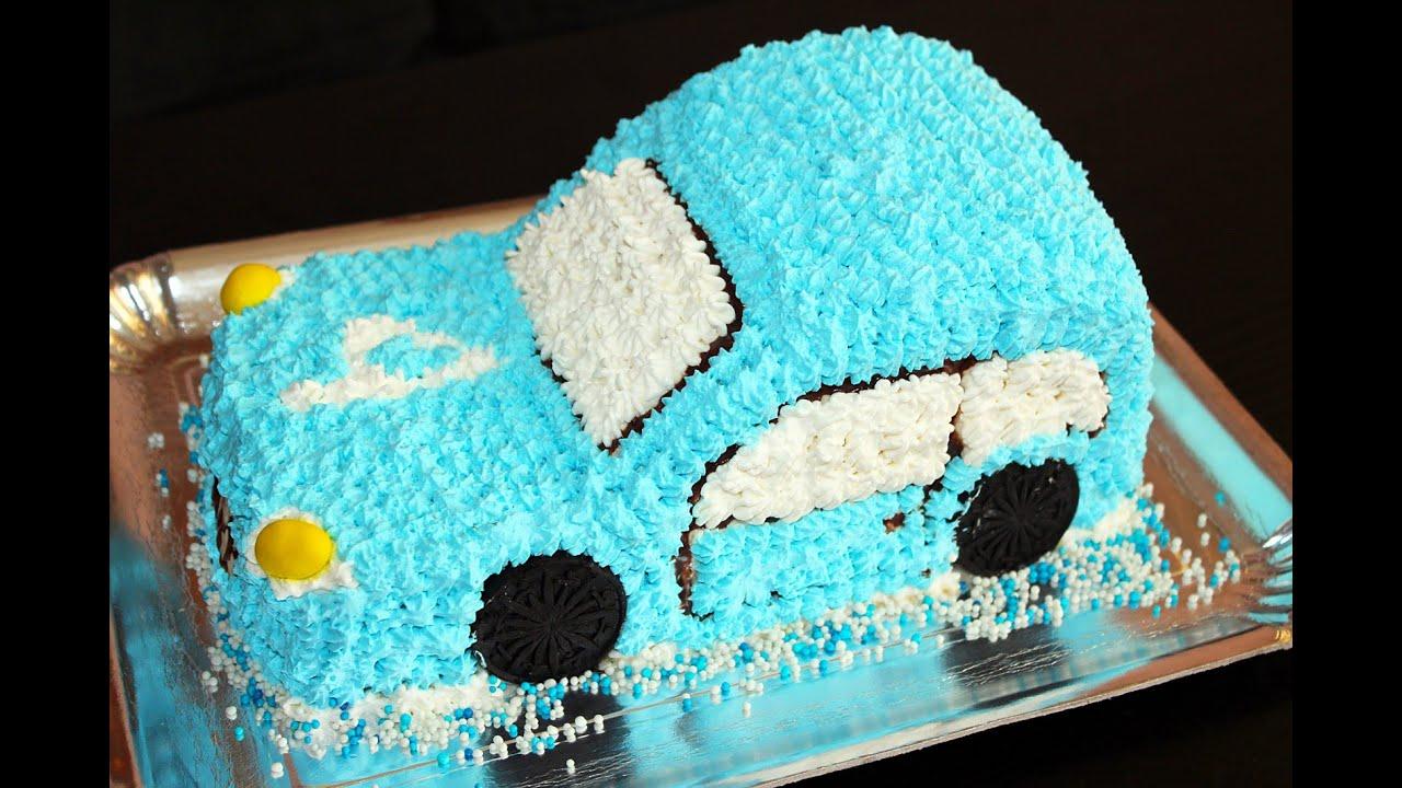 Торт в виде машины в домашних условиях фото