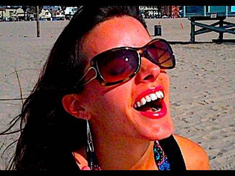 My wife LOVES the beach! (9/13/09-193) Video
