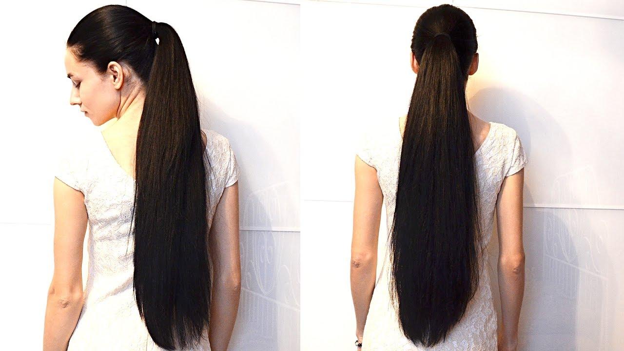 Very long hair ponytail