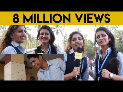 Actress Priya Warrior first Live | Priya Prakash Varrier के Viral Video