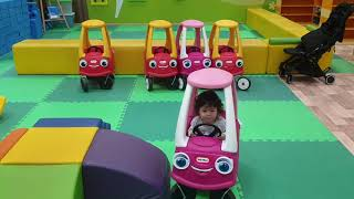 2 year old BABY playing Car Toy Indoor Playground