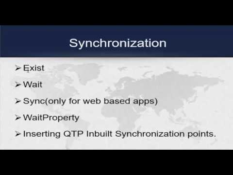 UFT(QTP) Tutorials -7. Synchronization in UFT with practical implementation thumbnail