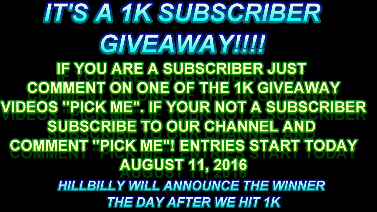 1k subscriber fishing tackle giveaway fishing bite for Free fishing tackle giveaway
