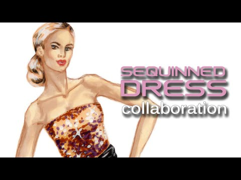 Sequinned sheer dress, subscriber collaboration with Piyali Roy:  Fashion Design Lesson #37