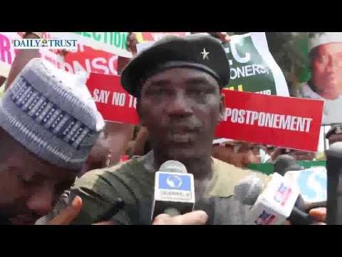 Nigerians protest against election postponement