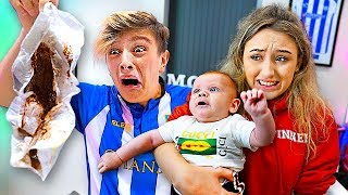 24 HOUR BABYSIT CHALLENGE w/GIRLFRIEND!! **Bad Idea**