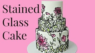 Cake Trend Stained Glass Cake Style
