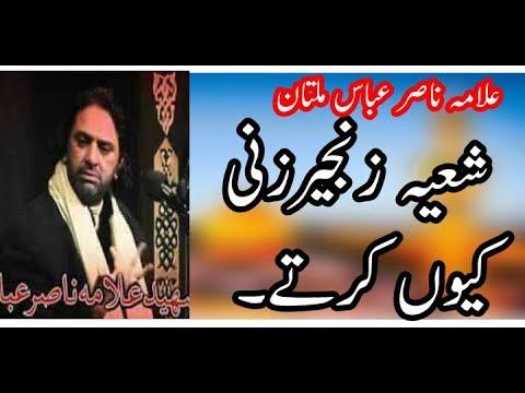 Allama Nasir Abbas Multan ●Shia Matam Kyun krty hain ● شعیہ زنجیرزنی کیوں کرتے ہیں۔
