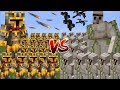 Minecraft 1000 IRON GOLEM VS 1000 MC NAVEED BATTLE MOD / FIGHT AND SURVIVE THE BATTLE!! Minecraft