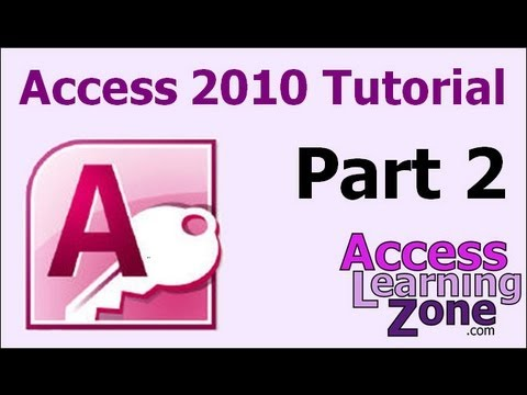 Microsoft Access 2010 Tutorial Part 02 of 12 - Planning Your Database