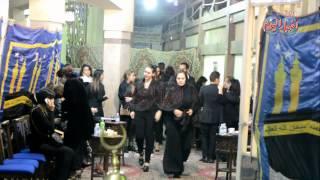 الفنانة عفاف رشاد بالملابس السوداء اقدم واجب العزاء لاصالة