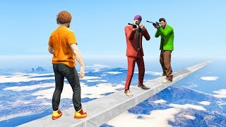 2 vs. 1 TIGHTROPE BATTLE! (Gta 5 Funny Moments)