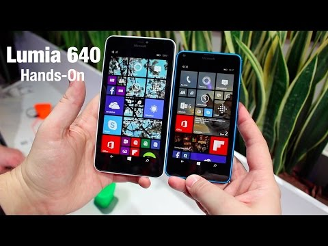 Microsoft Lumia 640 and 640 XL hands on - MWC 2015