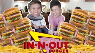 In-N-Out 10x10 Burger Challenge! (ft. Nampaikid)