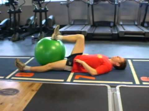 Supine gymball hip flexion
