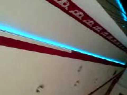 ... LEDSuperStore.de RGB LED Strip in Decken Absatz Design Ideen - YouTube