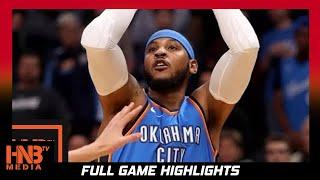 Oklahoma City Thunder vs New York Knicks Full Game Highlights / Week 1 / 2017 NBA Season
