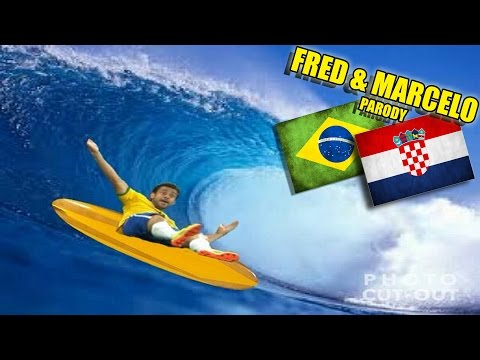 Fred, Marcelo & l'Arbitre Parodiés après Brésil-Croatie