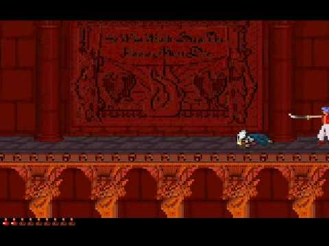 PRINCE OF PERSIA 2 Level (15/16) Classic [ MS-DOS Version ] 15th level - The prince becomes a shadow