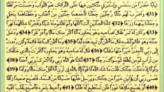 018 Surah Al Kahf  Abdulwadood Haneef Musshaf