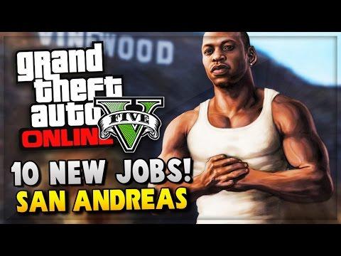 GTA 5 Online New Mission Jobs GTA San Andreas 10 Year Anniversary Special GTA V Gameplay