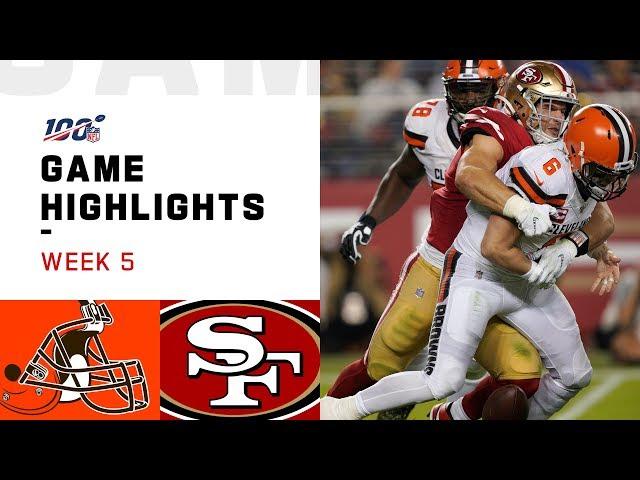 Browns vs. 49ers Week 5 Highlights | NFL 2019 thumbnail