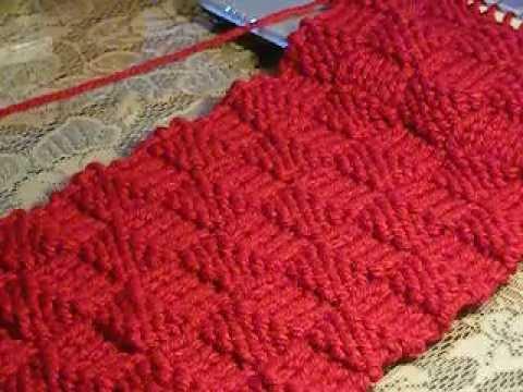 Como tejer punto cesta con dos agujas parte 1 youtube - Puntos de lana a dos agujas ...